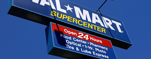 Walmart Supercenter signage. (AP)