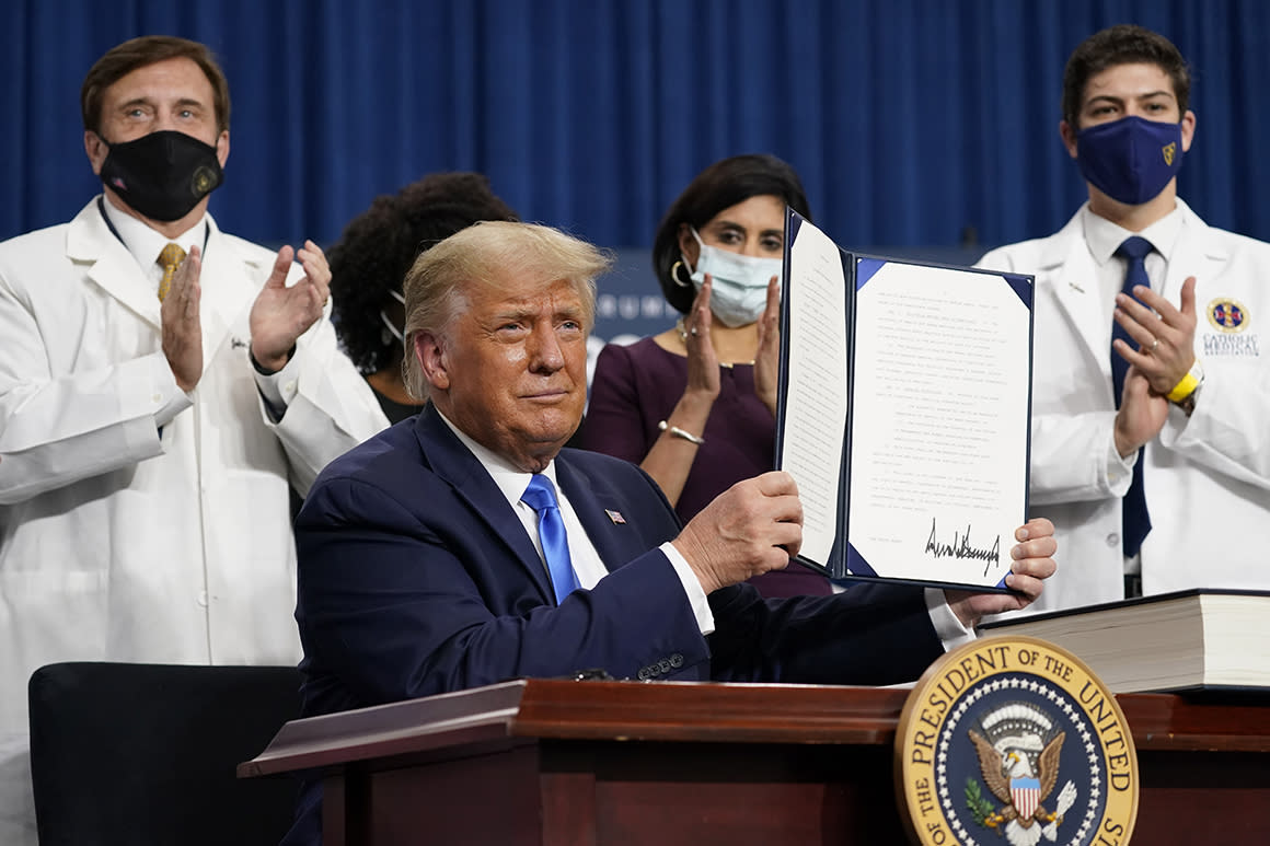 Trump's $200 drug cards for seniors remain in limbo