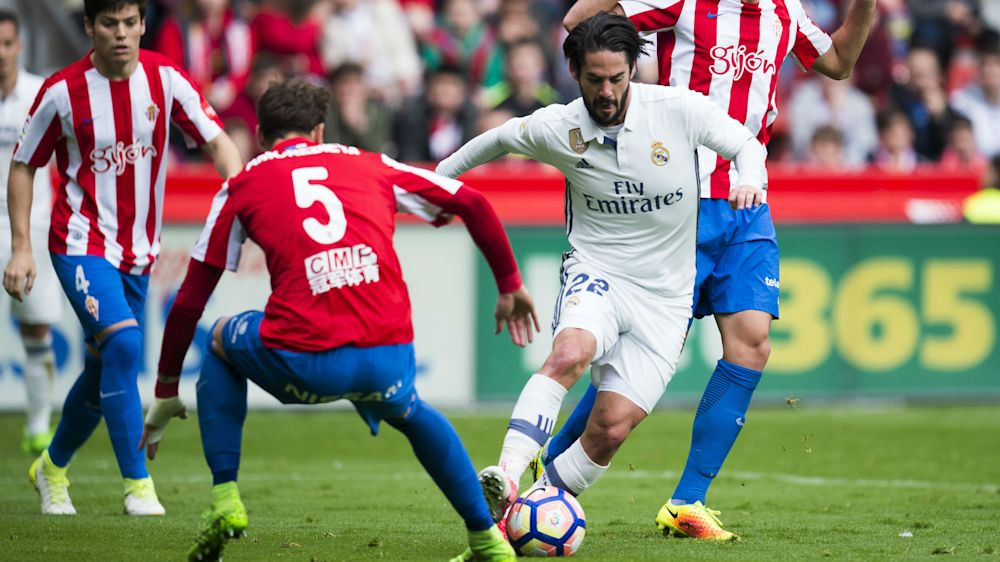 Sporting Gijon 2 Real Madrid 3: Brilliant Isco double snatches win for Zidane's men