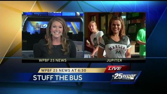 WPBF 25, Roger Dean Stadium team up to 'Stuff The Bus'