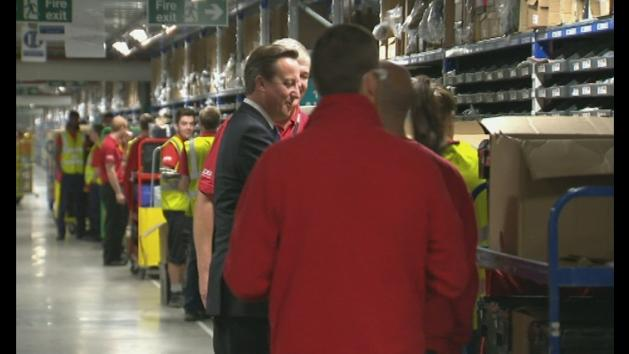 David Cameron visits Barnsley factory