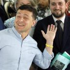 Ukraine election: Volodymyr Zelensky's party triumphs as exit polls predict parliamentary majority for former comedian