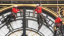 Big Ben clock puts on a new face