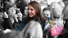Duchess of Cambridge wears green Dolce and Gabbana coat to meet well-wishers in Sunderland