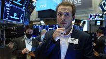 World stocks off record peak, dollar up