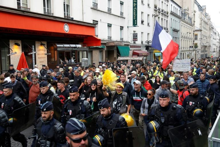 Yellow vest protesters also marched in Paris and other French cities