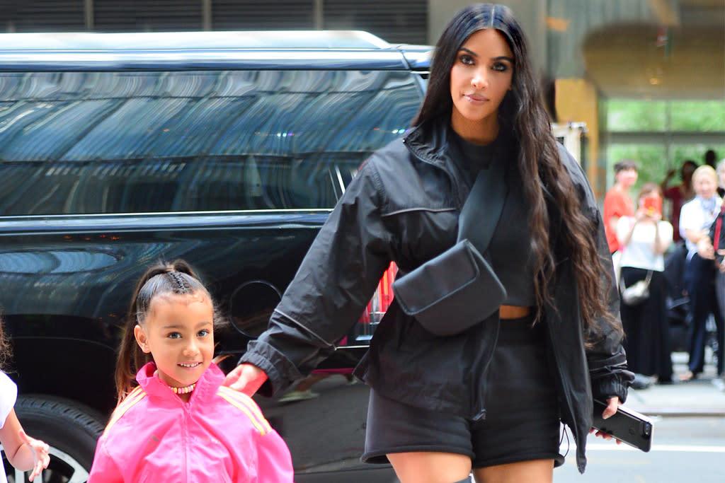 5eb852f972c North West Tries on Kim Kardashian's $550 Prada Flame Heels
