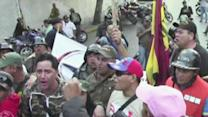 Raw: Tearful Chavez Supporters Take to Streets
