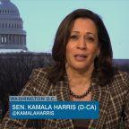 Kamala Harris reacts to Bernie Sanders' campaign suspension