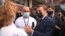 """""""Je n'ai pas envie de laisser tomber l'hôpital"""": Macron interpellé par des soignants"""