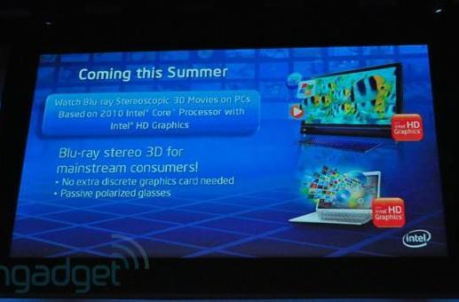 Intel HD graphics to support 3D this summer, 30 more WiDi laptops on the way