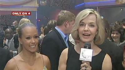 Kendra Wilkinson Surprises Sally Wiggin During Live Report