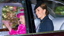 Kate Middleton and Prince William Join Queen Elizabeth to Attend Church Services in Scotland