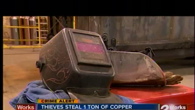 Thieves steal 2,000 lbs of copper from Wagoner business