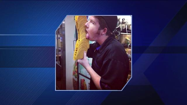Taco Bell employee posts pic of him licking taco shells