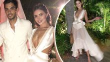 Model shocks in revealing wedding outfit