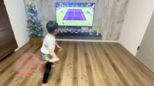 Young brothers mimic Roger Federer's technique and ace it