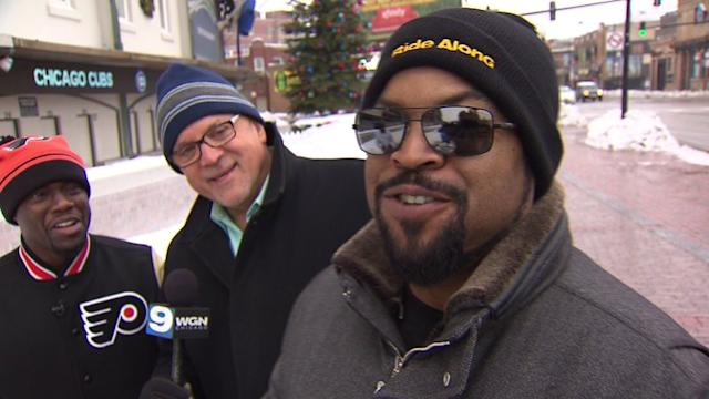 Entertainment reporter takes Ice Cube & Kevin Hart on Chicago