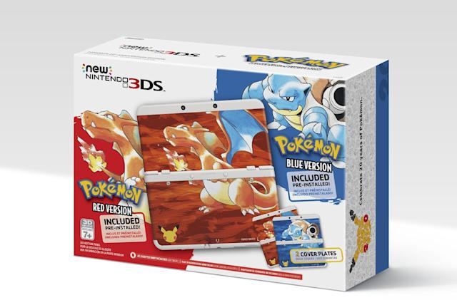 Nintendo bundles 'Pokémon Red' and 'Blue' in new 3DS pack