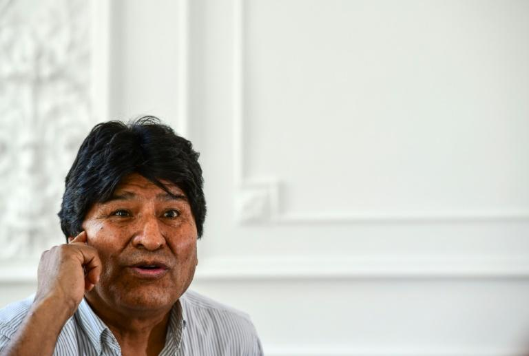 Bolivia's ex-president insists he won the general election in October 2019 despite the Organization of American States' audit that found evidence of vote rigging (AFP Photo/RONALDO SCHEMIDT)