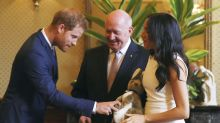 Prince Harry and Meghan start Aussie tour with baby gifts