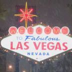 Fresh snow falls on famous 'Welcome to Fabulous Las Vegas' sign