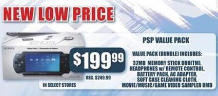 Gamestop slashes PSP Value Pack to same $200 as Core unit