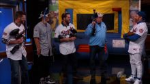 Jimmy Kimmel Loses Bet, Is Shot With Paintballs