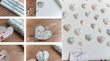 Create this pretty paper heart wall hanging decoration in 6 easy steps