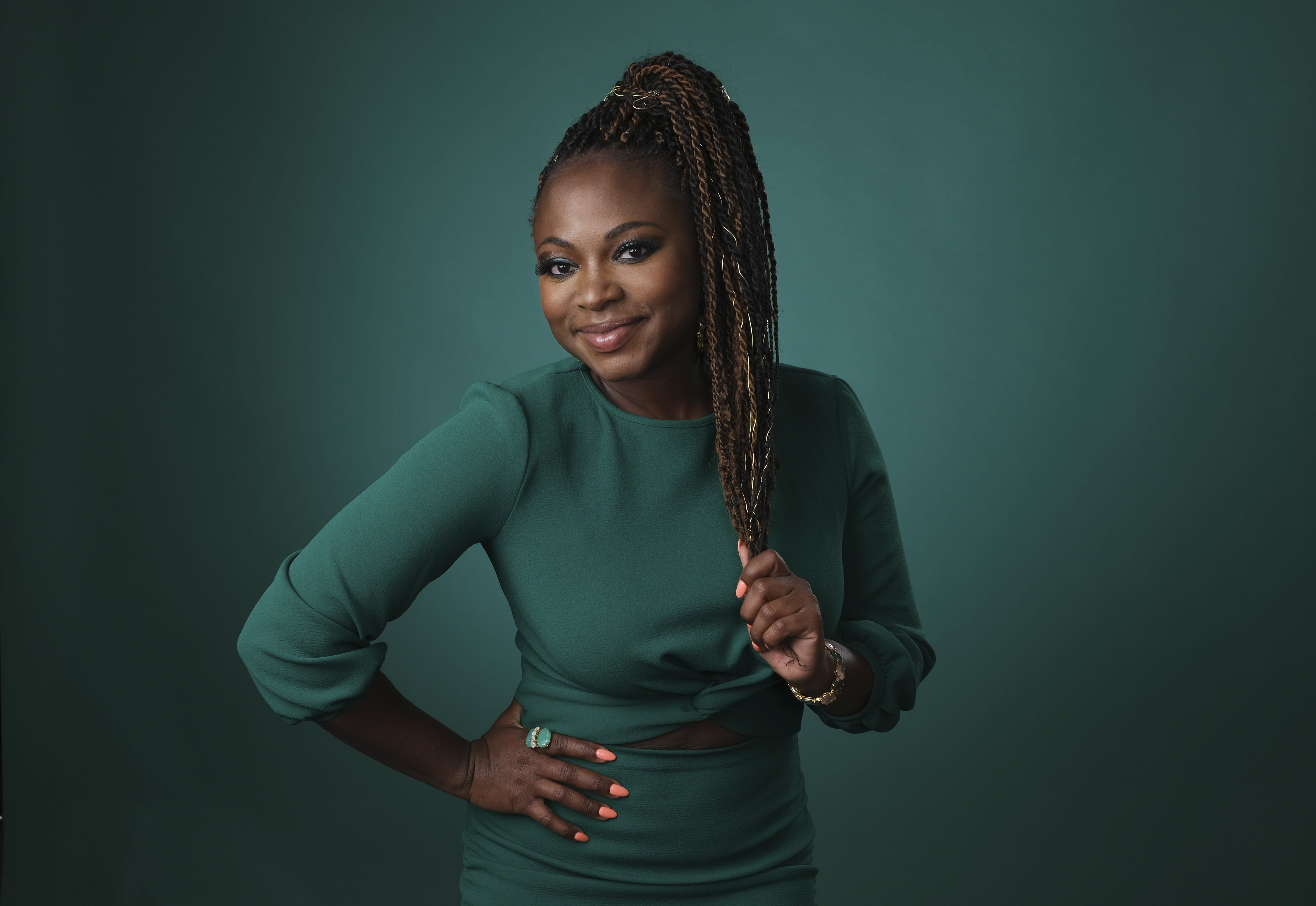 """In this Friday, July 26, 2019, photo, Naturi Naughton poses for a portrait during the Television Critics Association Summer Press Tour at the Beverly Hilton in Beverly Hills, Calif. Naughton appears on """"Power,"""" the Starz series that has turned into a ratings juggernaut and already sparked plans for a spinoffs. The show begins airing its final season on Sunday, Aug. 25. (Photo by Chris Pizzello/Invision/AP)"""
