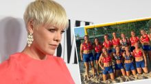 Pink offers to pay women's handball team fines over 'sexist' bikini rule