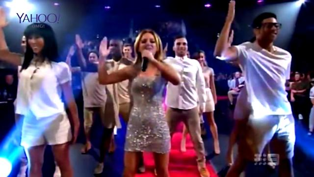 Oh dear... Geri Halliwell puts on a cringe performance