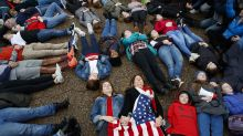 Teens hold a 'lie-in' at White House calling for gun control