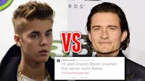 Celebrities React to Justin Bieber vs Orlando Bloom Fight