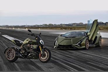 Ducati與Lamborghini Sian合作的聯名款Diavel 1260,這麼帥是要逼死誰