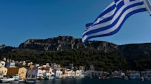 Greece hunts for culprits behind daubing of flag with red paint on flashpoint island