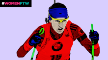 Biathlete Clare Egan learned to speak Korean before heading to the Olympics
