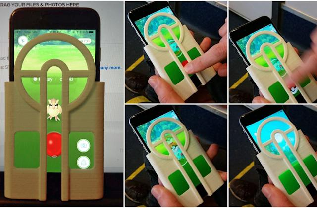 3D-printed 'Pokémon Go' cover aims for you, obscures screen