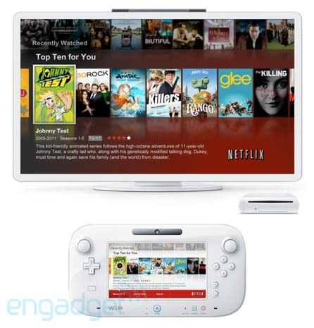 Netflix app for the Nintendo Wii U, pictured