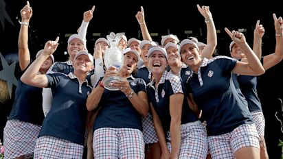 U.S. defeats Europe at Solheim Cup