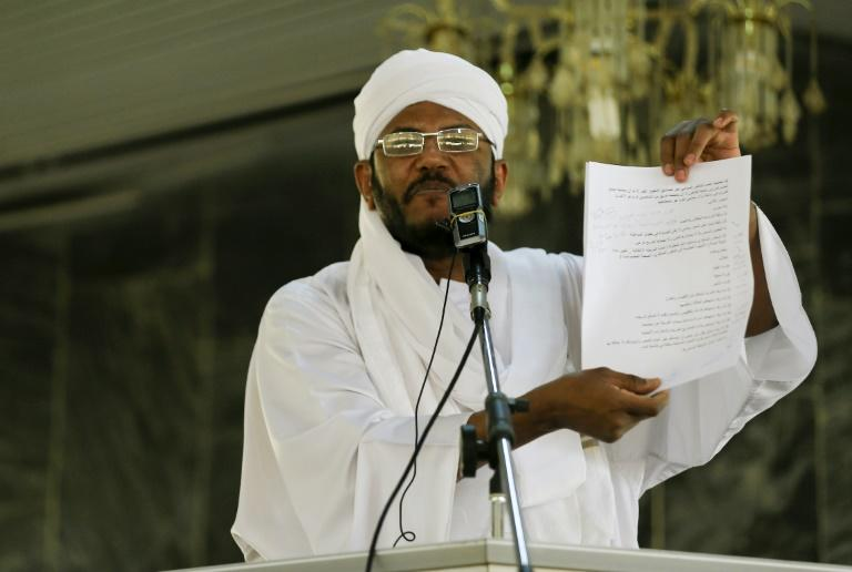 Sudanese hardline Islamist cleric Mohamed Ali Jazuli has warned that a law outlawing the former ruling party has the potential to trigger conflicts in Sudan (AFP Photo/ASHRAF SHAZLY)