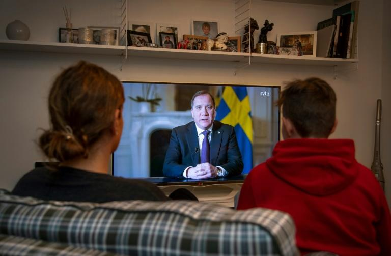 'Take responsibility', the prime minister told Swedes (AFP Photo/Anders WIKLUND)