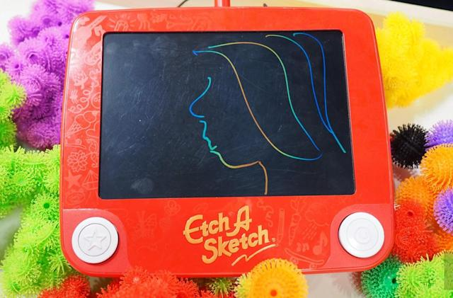 The Etch A Sketch gets an LCD makeover but retains its magic