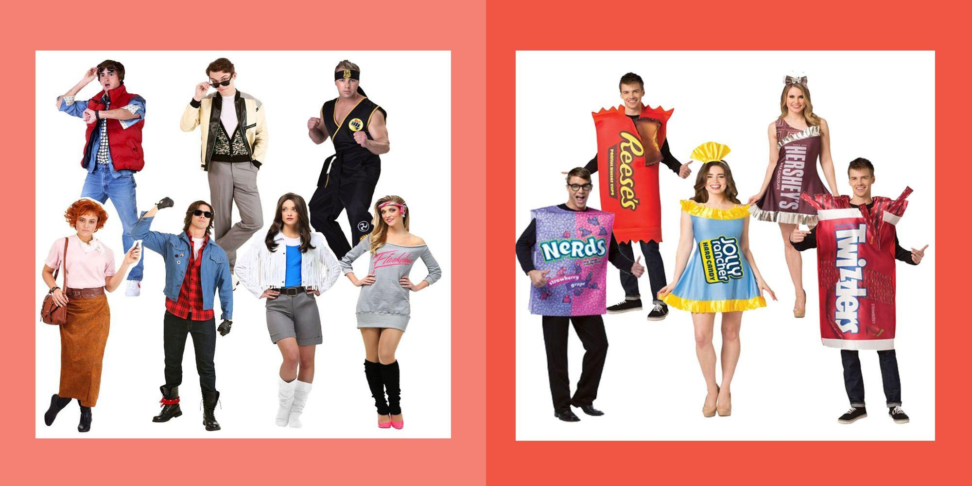 """<p>Why go solo when you can go in a group? <a href=""""https://www.womansday.com/halloween/"""" rel=""""nofollow noopener"""" target=""""_blank"""" data-ylk=""""slk:Halloween"""" class=""""link rapid-noclick-resp"""">Halloween</a> is the perfect holiday to celebrate with <em>all</em> of your people: <a href=""""https://www.womansday.com/home/crafts-projects/how-to/g510/10-easy-to-make-kids-costumes-124463/"""" rel=""""nofollow noopener"""" target=""""_blank"""" data-ylk=""""slk:kids"""" class=""""link rapid-noclick-resp"""">kids</a>, <a href=""""https://www.womansday.com/life/pet-care/g1883/pet-cat-halloween-costumes/"""" rel=""""nofollow noopener"""" target=""""_blank"""" data-ylk=""""slk:furry friends"""" class=""""link rapid-noclick-resp"""">furry friends</a>, <a href=""""https://www.womansday.com/life/g1898/family-halloween-costumes/"""" rel=""""nofollow noopener"""" target=""""_blank"""" data-ylk=""""slk:family"""" class=""""link rapid-noclick-resp"""">family</a> and, of course, your tight-knit circle of friends. So why no dress as a group?</p><p>There's no better feeling than successfully pulling off spectacular group <a href=""""https://www.womansday.com/style/fashion/g490/20-clever-last-minute-costume-ideas/"""" rel=""""nofollow noopener"""" target=""""_blank"""" data-ylk=""""slk:Halloween costume"""" class=""""link rapid-noclick-resp"""">Halloween costume</a>, especially when you arrive at the party and the compliments start rolling in. But before you can get to the part where you're accepting the trophy for best costume, you and your friends must first choose your Halloween look — and anyone who has tried to coordinate outfits with the whole gang knows how tricky it can be to get everyone to agree on one idea. </p><p>With group Halloween costume ideas ranging from whimsical, like ice cream sundaes and fuzzy dice, to iconic, like the Sanderson sisters and the Disney princesses, it'll be hard to go wrong with any of these choices. Get the gang together for a <a href=""""https://www.womansday.com/life/g1908/cheap-and-easy-ways-to-celebrate-halloween/"""" rel=""""nofollow noopener"""" target=""""_blank"""" data-ylk=""""slk:fest"""