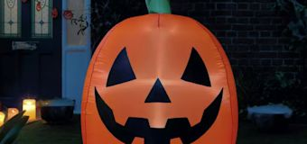 Get Halloween ready with a 4ft inflatable pumpkin