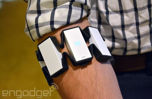Muscle-sensing Myo gesture armband will be on Amazon this quarter
