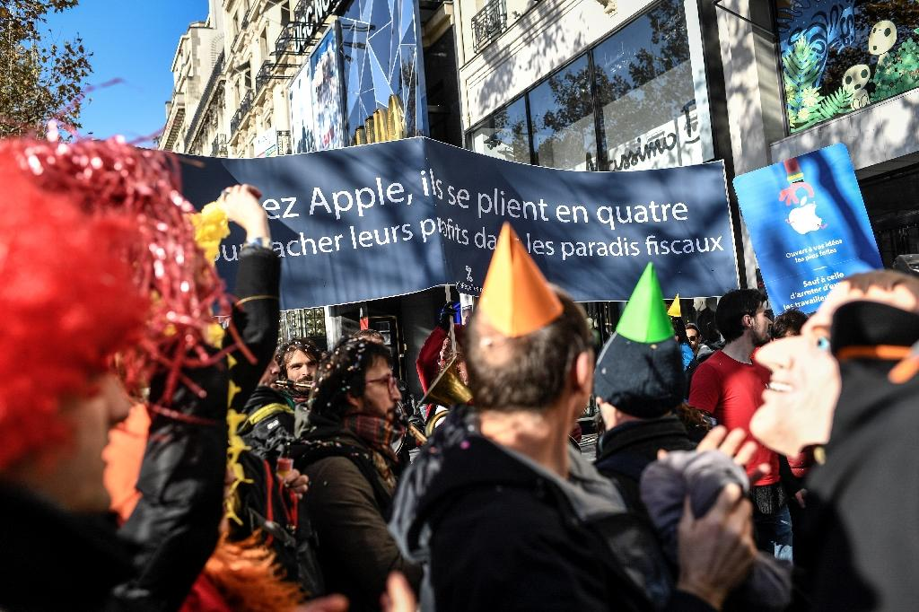 Attac staged a sit-in at Apple's flagship Paris store in December 2017, and the US giant lost a legal bid to ban further such protests