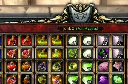 Requiring authenticators for guild bank access