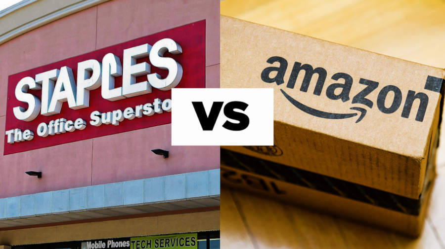 Staples vs. Amazon for back-to-school supplies