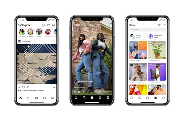 Instagram adds dedicated sections for shopping and Reels